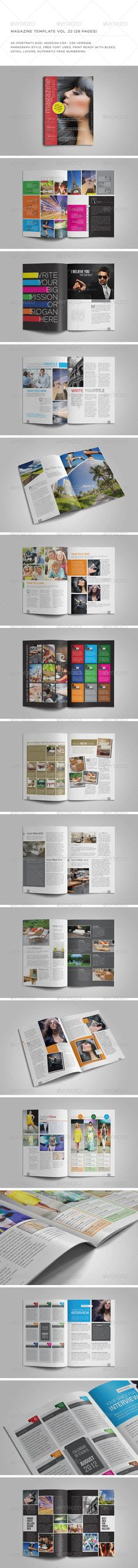 Indesign template vol 22 You can download this template here : http://graphicriver.net/item/a5-portrait-28-pages-mgz-vol-22/5837020?WT.oss_phrase=&WT.oss_rank=30&WT.z_author=Shafura&WT.ac=search_thumb