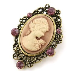 Amazon.com: Purple Cameo Brooch Pin Charm Women Fashion Jewelry Necklace Pendant Compatible: Brooches And Pins: Jewelry