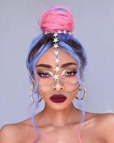 Do you wanna learn how to dying your own hair? Well, just visit our web site to seeing more amazing video tutorials! Nyane Lebajoa, Neon Hair, Aesthetic Hair, Hair Reference, Mermaid Hair, Rainbow Hair, Cool Hair Color, Hair Looks, Cute Hairstyles