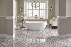 Skyfall Gray Polished Marble Tile - 12 x 24 - 100054220 Grey Bathrooms, Modern Bathroom, Bathroom Ideas, Bathroom Gallery, Master Bathroom, Master Baths, Bathroom Designs, Carrara, Skyfall