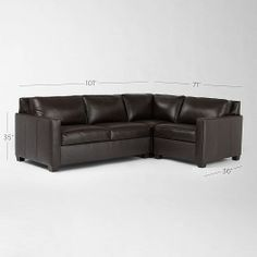 Henry 3-Piece Sectional - Leather | west elm