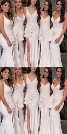 Plus Size Prom Dress, Stylish Mermaid V-neck Long Jersey Split Bridesmaid Dresses Shop plus-sized prom dresses for curvy figures and plus-size party dresses. Ball gowns for prom in plus sizes and short plus-sized prom dresses 2 Piece Homecoming Dresses, Unique Bridesmaid Dresses, V Neck Prom Dresses, Cheap Evening Dresses, Mermaid Prom Dresses, Wedding Party Dresses, Cheap Dresses, Bridesmaid Outfit, Affordable Dresses