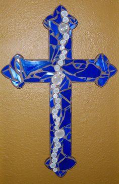 Mosaic Royal cross, Artist ~ Michelle Brookes