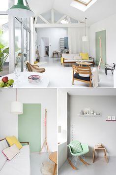 adorable home of Caroline Gomez..pretty pretty pastels