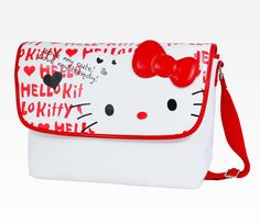 Hello Kitty Messenger Bag: Red Logo