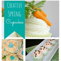 What could be better than Spring-themed cupcakes!