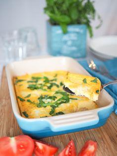 Piparkakkutalon akka, ruoka- ja leivontablogi: Mozzarellamunakas