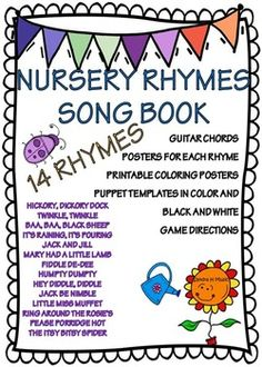 Nursery Rhyme Songs* Posters* Puppets* Guitar... by SING-PLAY-CREATIVELY   Teachers Pay Teachers