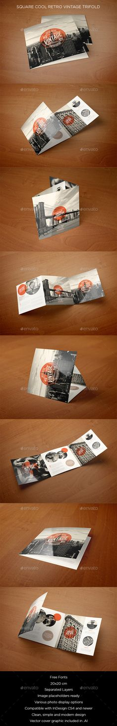 37 Special Retro \ Vintage Effect Styles Fonts-logos-icons - retro brochure template