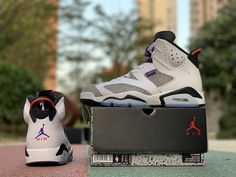 "d5d3396df9a3e0 2019 Air Jordan 6 Retro ""Flint"" White Black-Infrared 23-Dark Concord  CI3125-100"