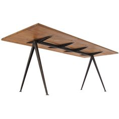 Wim Rietveld Pyramid Table Desk for Ahrend de Cirkel, 1959 | From a unique collection of antique and modern desks and writing tables at https://www.1stdibs.com/furniture/tables/desks-writing-tables/