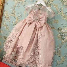 Beautiful Blush Flower Girl Dress. Love the details!
