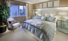 The Mendocino Master Bedroom at Destinations. Sacramento, California.