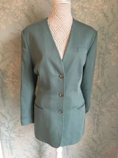 8f17fd23f5 Alexon Womens Mint Green Long Sleeve Collarless Blazer Size 16  fashion   clothing  shoes  accessories  womensclothing  coatsjacketsvests (ebay link)