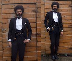 #styleguide #mensfashion #menstyle #formal #ascot #black #lookbookmen #beard
