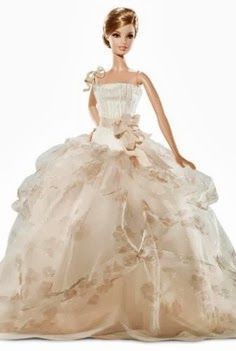 pretty dress ! Bridal Barbie. I want you to wear this dress!!@Brian Flanagan Flanagan Dillon juliet