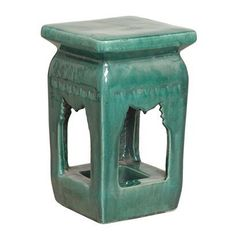 Ming Style Garden Stool - Green.Opens in a new window