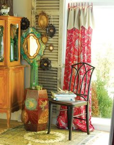 Eye candy:  Curtains for the gypsy in all of us. 8 different looks.