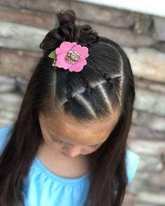 Cute Hairstyles For Short - Mixed Kids Hairstyles - Mixed Girl Hairstyles, Plaits Hairstyles, Princess Hairstyles, Girl Haircuts, Little Girl Hairstyles, Hairstyles Haircuts, 1920s Hairstyles, Summer Hairstyles, Simple Girls Hairstyles