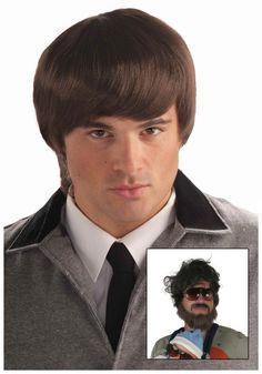 60s Mod Brown Mens Wig...another option