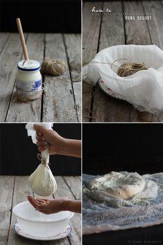 How To Make Hung Yogurt  + dessert to try: http://www.cookrepublic.com/recipe-archive/honey-nut-shrikhand-yogurt-dessert/