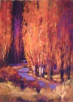 Catching the Evening Light2 by Teresa Saia Pastel ~ 24 x 18