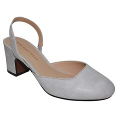 Women's Who What Wear Annalise Slingback Pumps - Grey 9.5