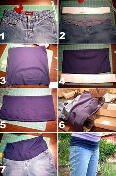 Blog de casinhadoliedasi : CASINHA DO LI E DA SI, Customizando calça jeans para gestantes
