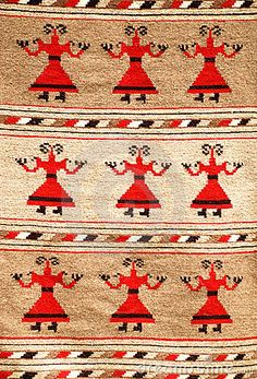 Photo about Romanian traditional rug woven with colored wool. Image of business, eastern, delicate - 19611233