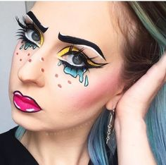 Sometimes simplicity can be just as effective as going full halloween transformation. This pop art make up looks amazing and has that scary doll look you're craving using only a few beauty products!