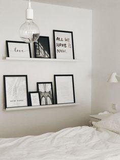 Bedroom Pictures: Furniture for the oasis of well-being - Schlafzimmer - Shelves in Bedroom Bedroom Inspo, Bedroom Decor, Bedroom Ideas, Muuto, Tumblr Rooms, Bedroom Pictures, Minimalist Bedroom, New Room, Room Inspiration