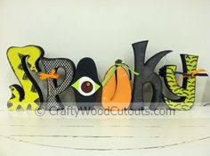 More Halloween Wood Craft Cutouts For Home Decor