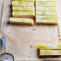 Lemon Lime Bars - Lemon bars have long been a potluck favorite.  They've pumped up the citrus zing by adding a layer of lime.