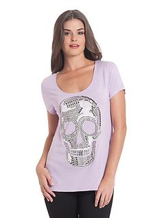 Danny Studded Skull Tee | GUESS.com