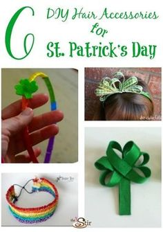 Soooo cute! Easy hair bows and headbands to make for St. Patrick's Day!! http://thestir.cafemom.com/big_kid/169165/6_cute_colorful_diy_hair?utm_medium=sm&utm_source=pinterest&utm_content=thestir&newsletter