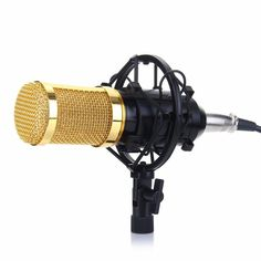 Condenser Microphone with Studio Sound for Recording and Broadcasting with Shock Mount, Audio Cable, Sponge Microphone Audio Studio, Sound Studio, Recording Studio, Microphone Studio, Recorder Music, Karaoke, Consumer Electronics, Studios
