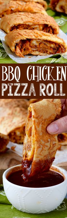 BBQ Chicken Pizza Roll - A jam packed flavorful dinner you're family will love!
