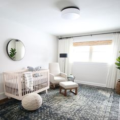 We bought our house when I was almost 5 months pregnant and raced against the clock to totally gut and remodel it before our Baby Boy was due to arrive on Valentine's Day. We tore out all of the baseboard, installed new trim, doors, painted the walls, and resanded/stained the floor before decorating the space to personalize it for our first baby! Spoiler alert... we finished the construction with one weekend to spare before baby's arrival.