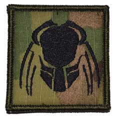 """Tactical Gear Junkie - Predator Head - 2""""x2"""" Military Morale Funny Patch - Multiple Colors, $4.99 (http://www.tacticalgearjunkie.com/predator-head-2x2-velcro-patch/)"""