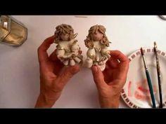 come fare un angelo in piedi in pasta mais/ceramica fredda 3 parte - standing angel 3 part - YouTube