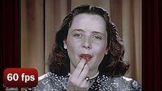 How to Do 1940's Makeup - AI Enhanced 1946 [60 fps] | Glamour Daze