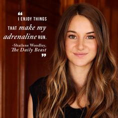 Brave. Selfless. Kind. Smart. Honest. Shailene Woodley is a little bit of everything. Check out her interview on @The Daily Beast!