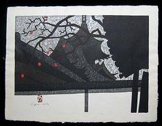 1970 Original Kiyoshi Saito Japanese Woodblock Miidera Temple Otsu