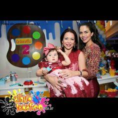 Antonella!!! Festa linda em companhia da mamâe Bruna e a Daniela Albuquerque.