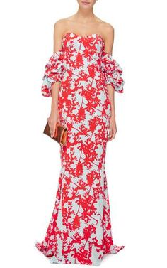 Silk Printed Off The Shoulder Jamaica Dress by Johanna Ortiz Now Available on Moda Operandi