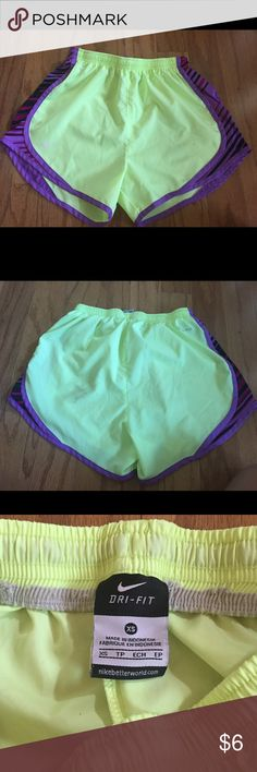 Nike Dri Fit Shorts Good condition, built in underwear is cut out, a dirt stain on the back of the shorts Nike Shorts