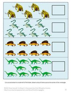 Items similar to Dinosaurs Math Literacy File Folder Games Fine Motor Special Education Autism Learning Centers Preschool Kindergarten Fine Motor Skills on Etsy Dinosaur Worksheets, Dinosaur Activities, Dinosaur Games, Homeschool Worksheets, Preschool Activities, Letter Matching, Shape Matching, 2 Letter, Preschool Centers