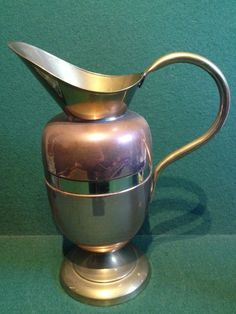 Vintage Copper & Brass Jug / Ewer - 25cm Tall - Great Condition.