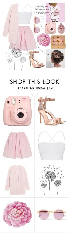 """""""PINK"""" by dark-mark ❤ liked on Polyvore featuring Fujifilm, Disney, Gianvito Rossi, Carven, Theory, By Malene Birger, jcp, Ballard Designs and Sheriff&Cherry"""