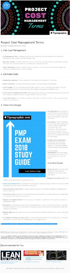 PMP Certification: Project Cost Management Terms (based on PMBOK® Guide, Edition) Agile Project Management Tools, Project Management Certification, Project Management Templates, Free Courses, Online Courses, Pmp Exam Prep, Free Training, Data Science, Budgeting